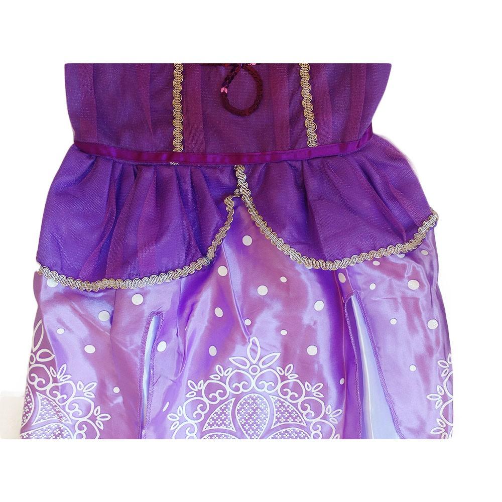 fantasia infantil vestido da princesa sofia com elástico