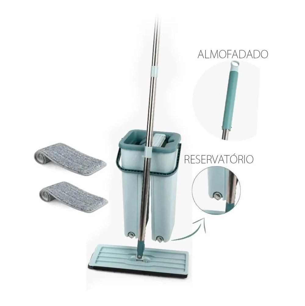 Flat Mop Multiuso Wash Dry Vertical Lava Seca + refil extra