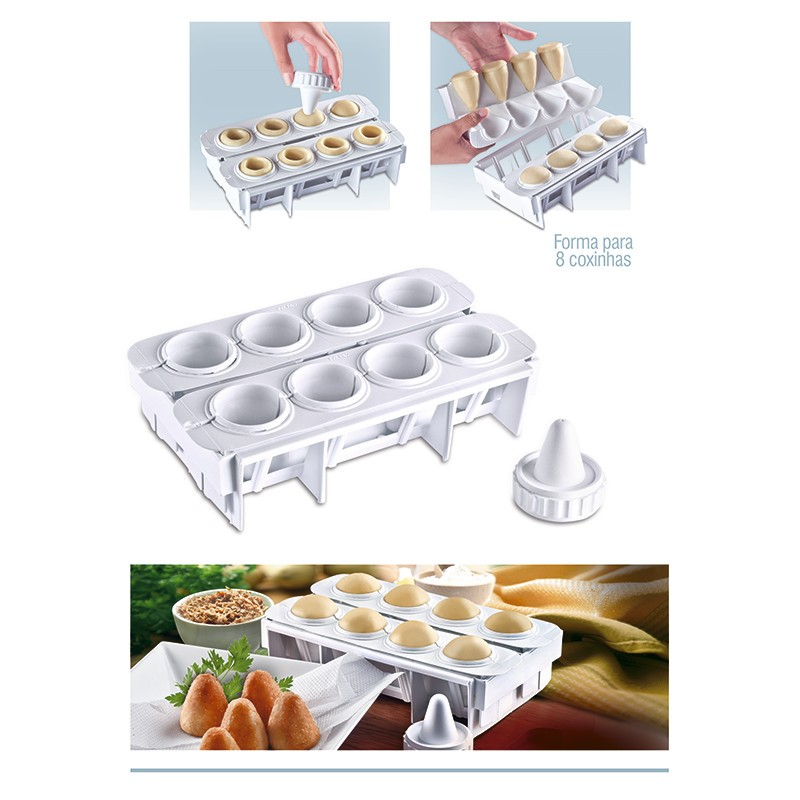 Forma Fábrica Coxinhas Modelador Salgado Festa Bar Cozinha