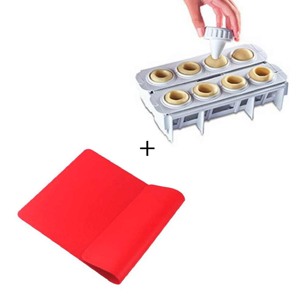 Forma Fábrica de Coxinha + Tapete Culinário Silicone