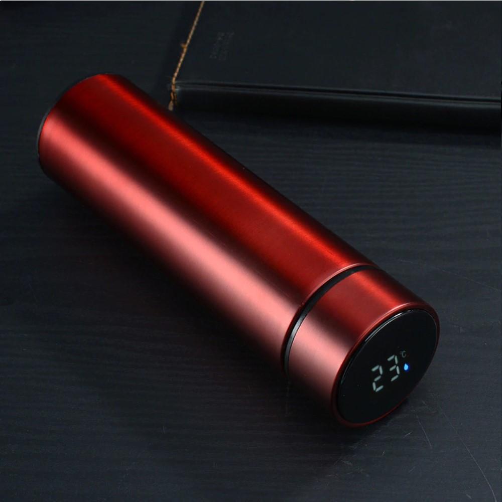 Garrafa Térmica Inox 500ml com Infusor e Termômetro Led