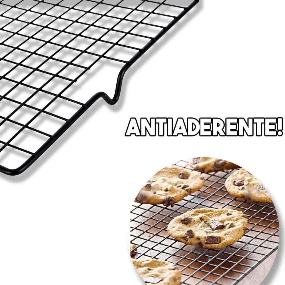 Grade Para Resfriamento Antiaderente Bolos Biscoitos Pão
