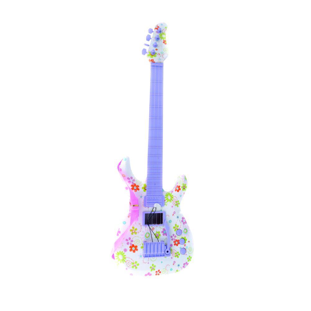 guitarra infantil touch estampada com luzes e sons a pilha
