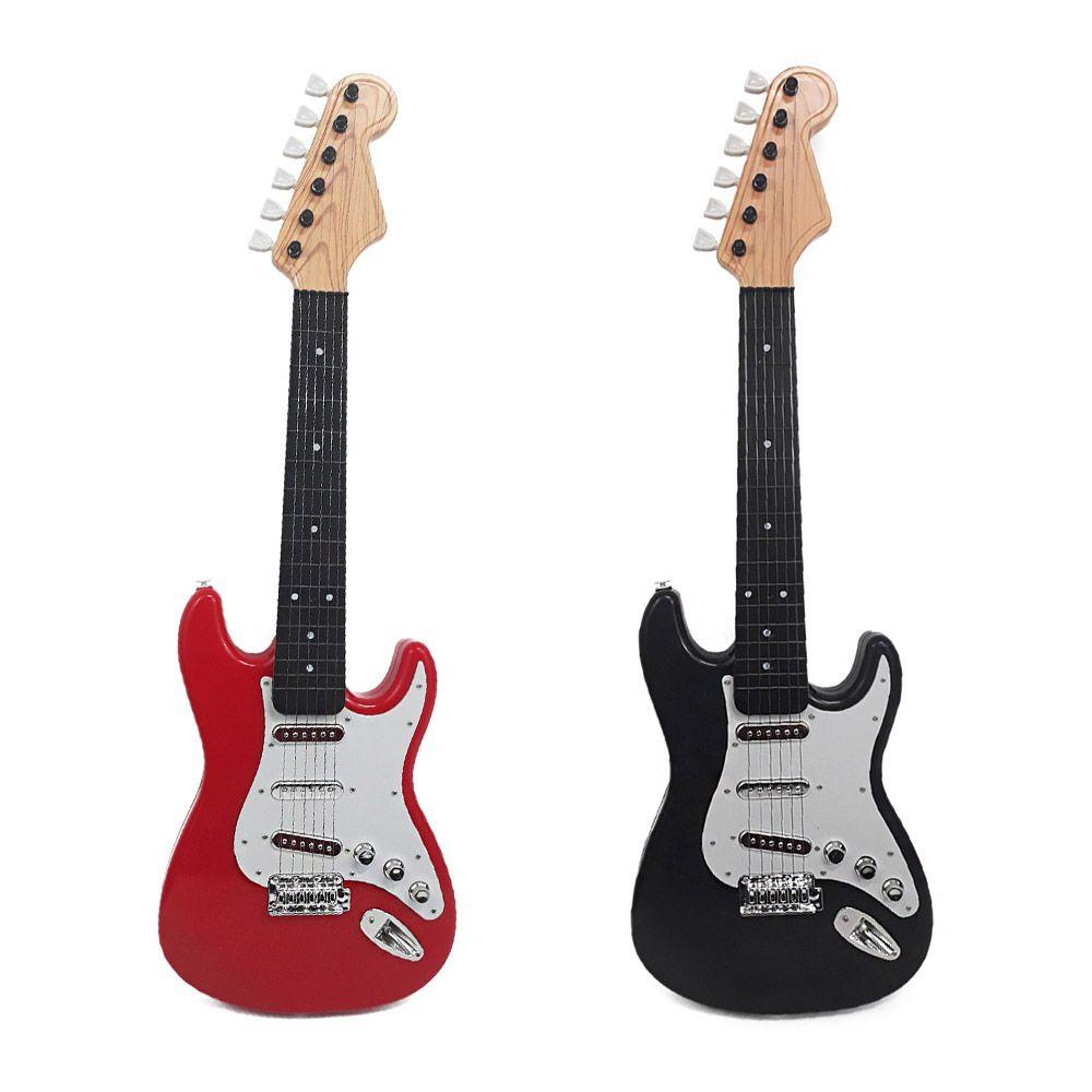 guitarra musical rock star infantil cordas e aço art brink