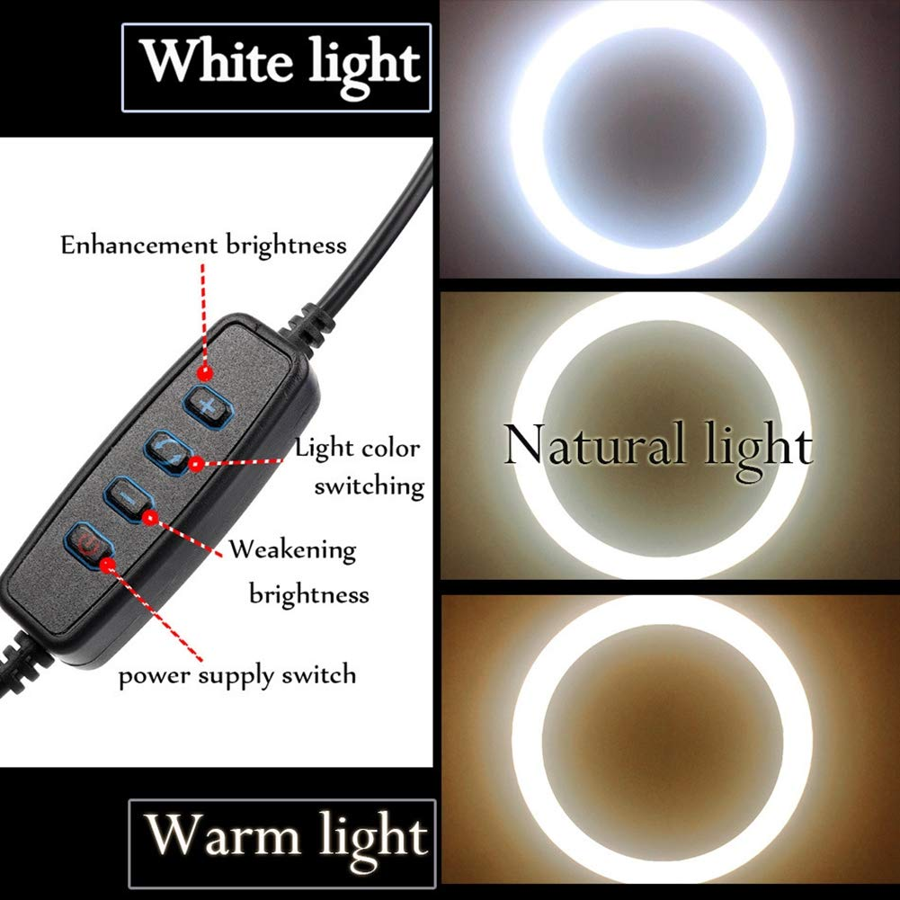 Iluminador Ring Light Completo Portátil 26cm + Tripé 1.60m