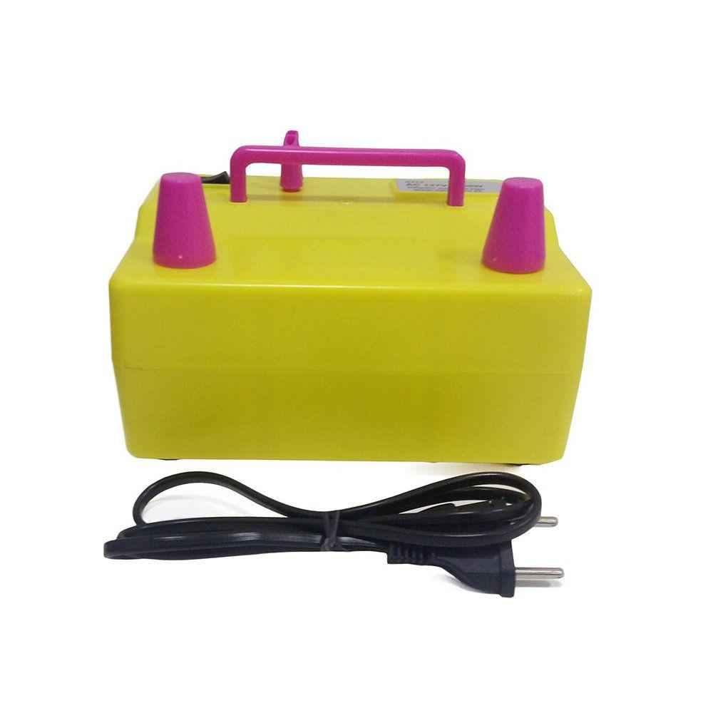 inflador elétrico de baloes bexigas compressor 127v amarelo