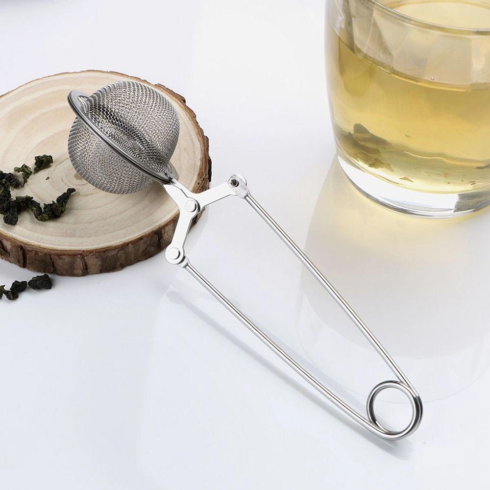 Infusor De Chá Inox Chaleira Ervas Coador Peneira Pinça