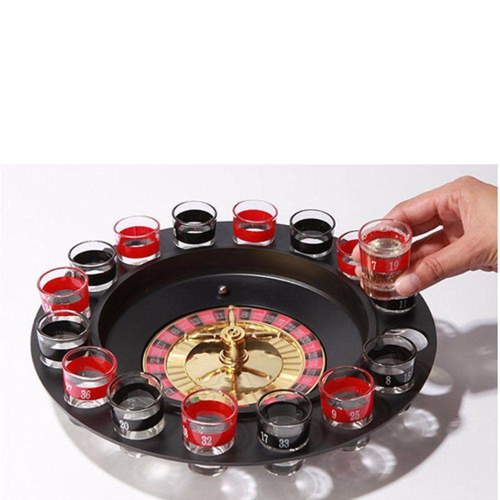 jogo cassino shot com roleta e 16 copos tequila bebida drink