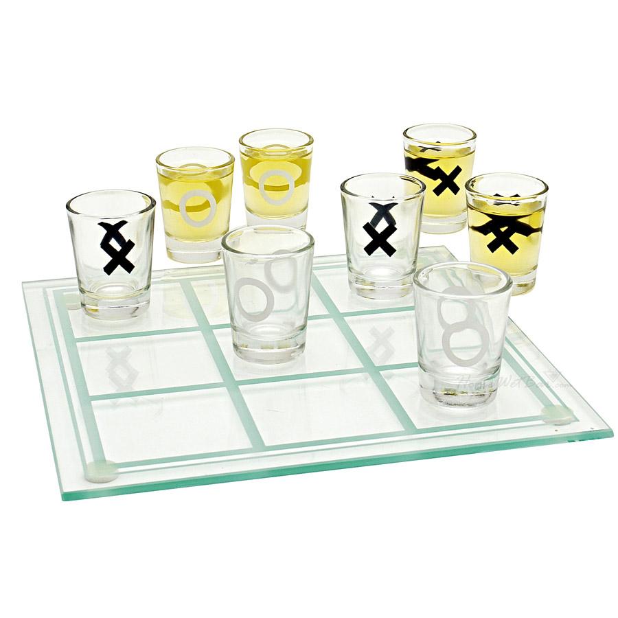 Jogo Da Velha Com Copos Drink Shot Dose 10ml Vira vira