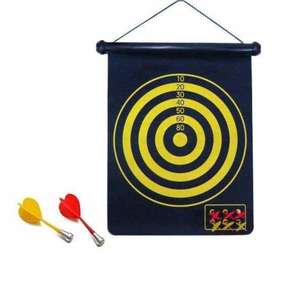 jogo de dardos magnético com alvo dupla face