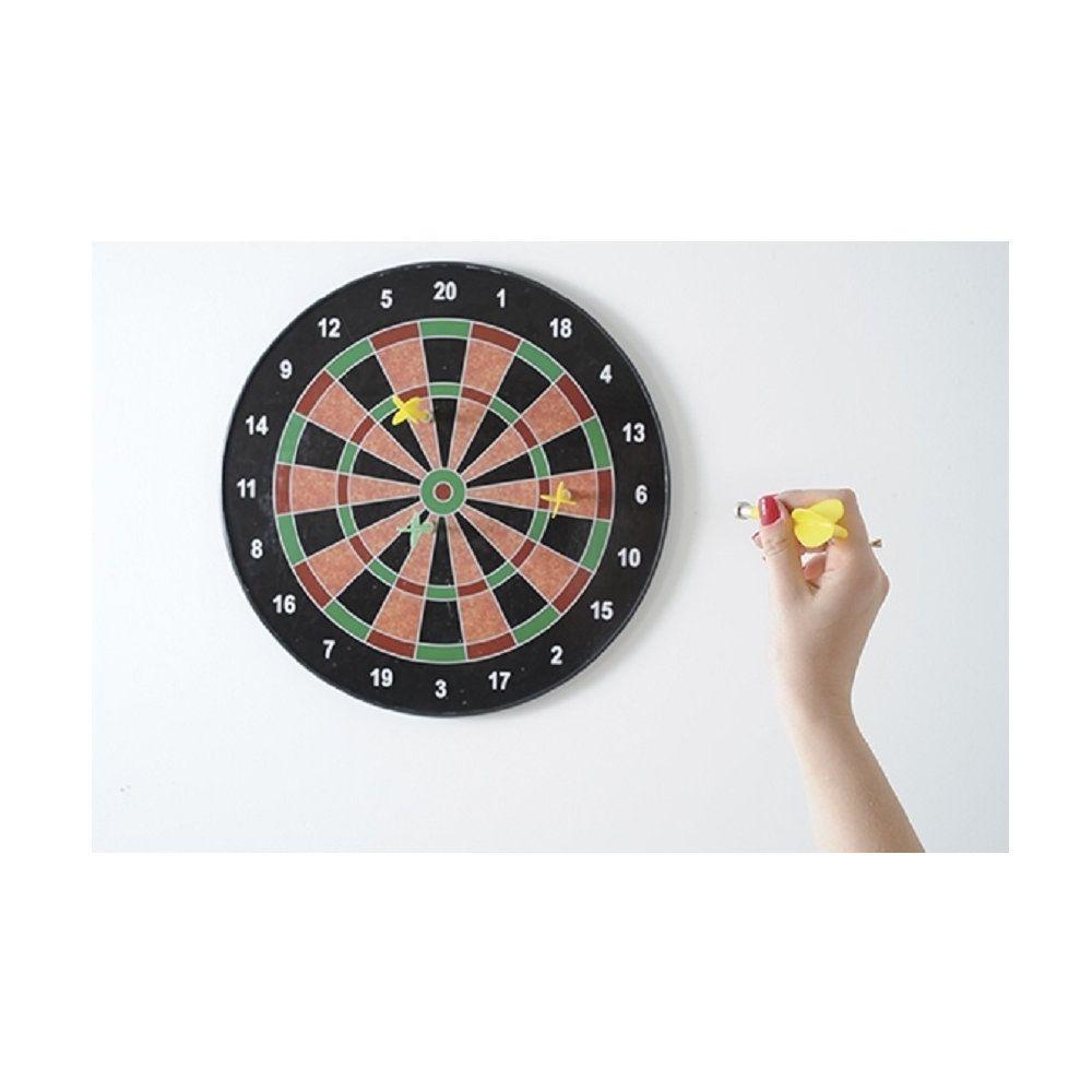 jogo de dardos magnético de parede grande 40cm com 6 dardos
