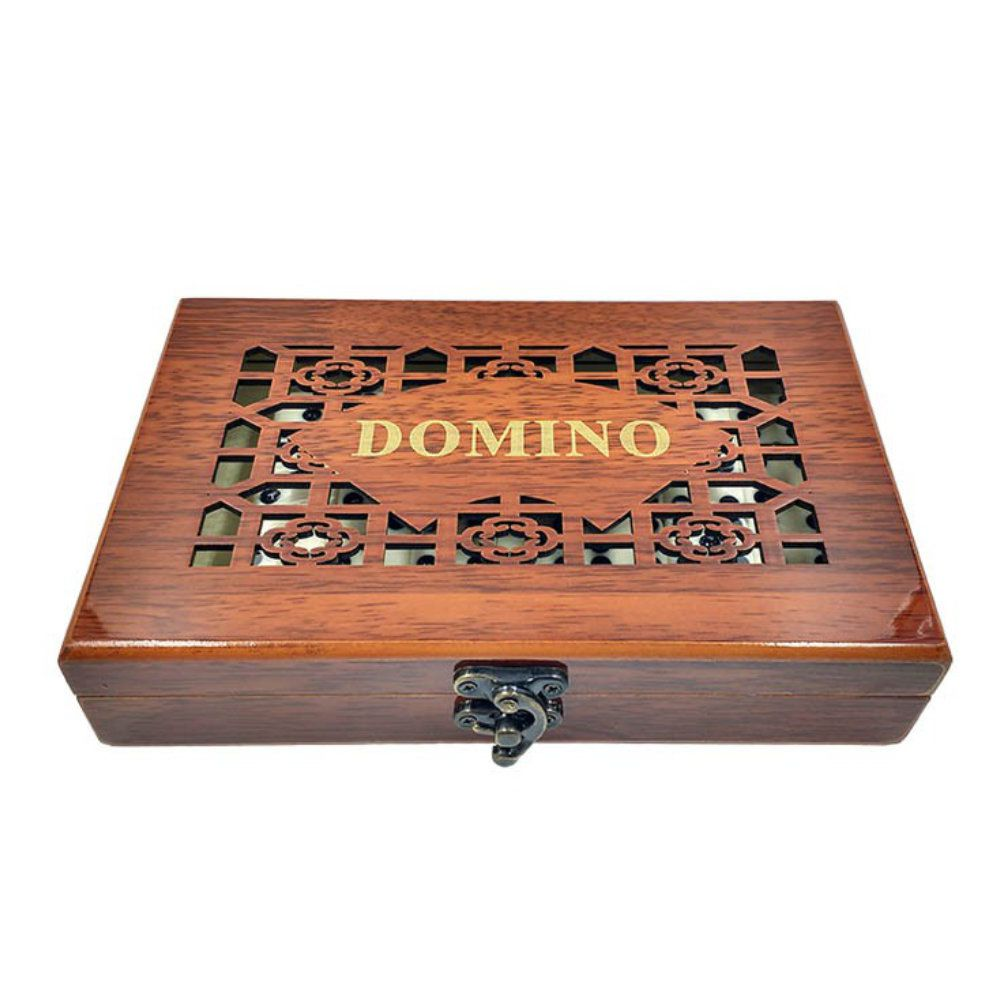 jogo de domino 28 peças com maleta de madeira