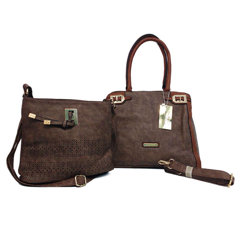 30236f755 kit 2 bolsas femininas importada em couro sintético e alças - New Mix  Comercial ...