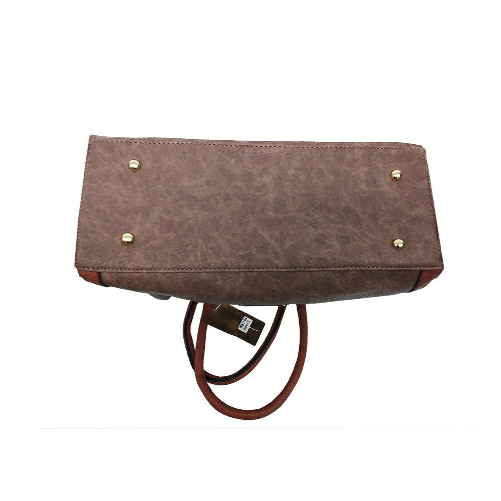 kit 2 bolsas femininas importada em couro sintético e alças