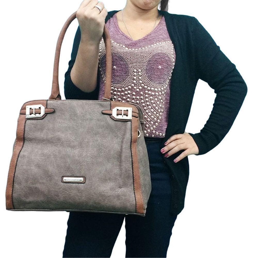 f38ce4288 ... kit 2 bolsas femininas importada em couro sintético e alças - New Mix  Comercial