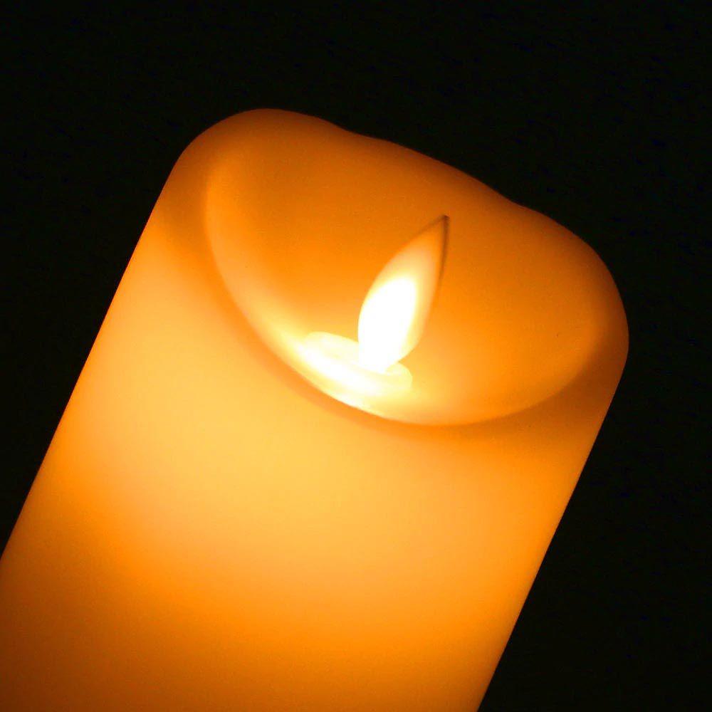 kit 3 velas decorativas led com movimento chama viva a pilha