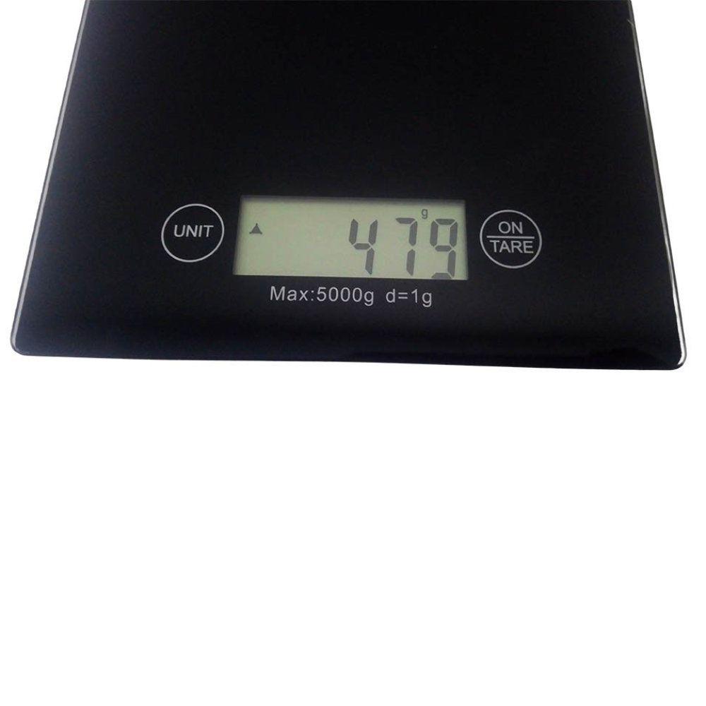 kit 4 balanças digitais 5kg em vidro temperado para cozinha