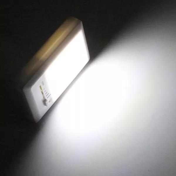 Kit 4 Luminárias  Á Pilha Regulável De Emergência Compacta
