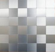 Kit Com 5 Placas Decorativas de Alumínio Escovado Pastilha 3D