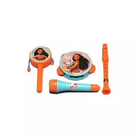 Kit De Instrumentos Infantis Estampa Princesa Moana 4 Peças