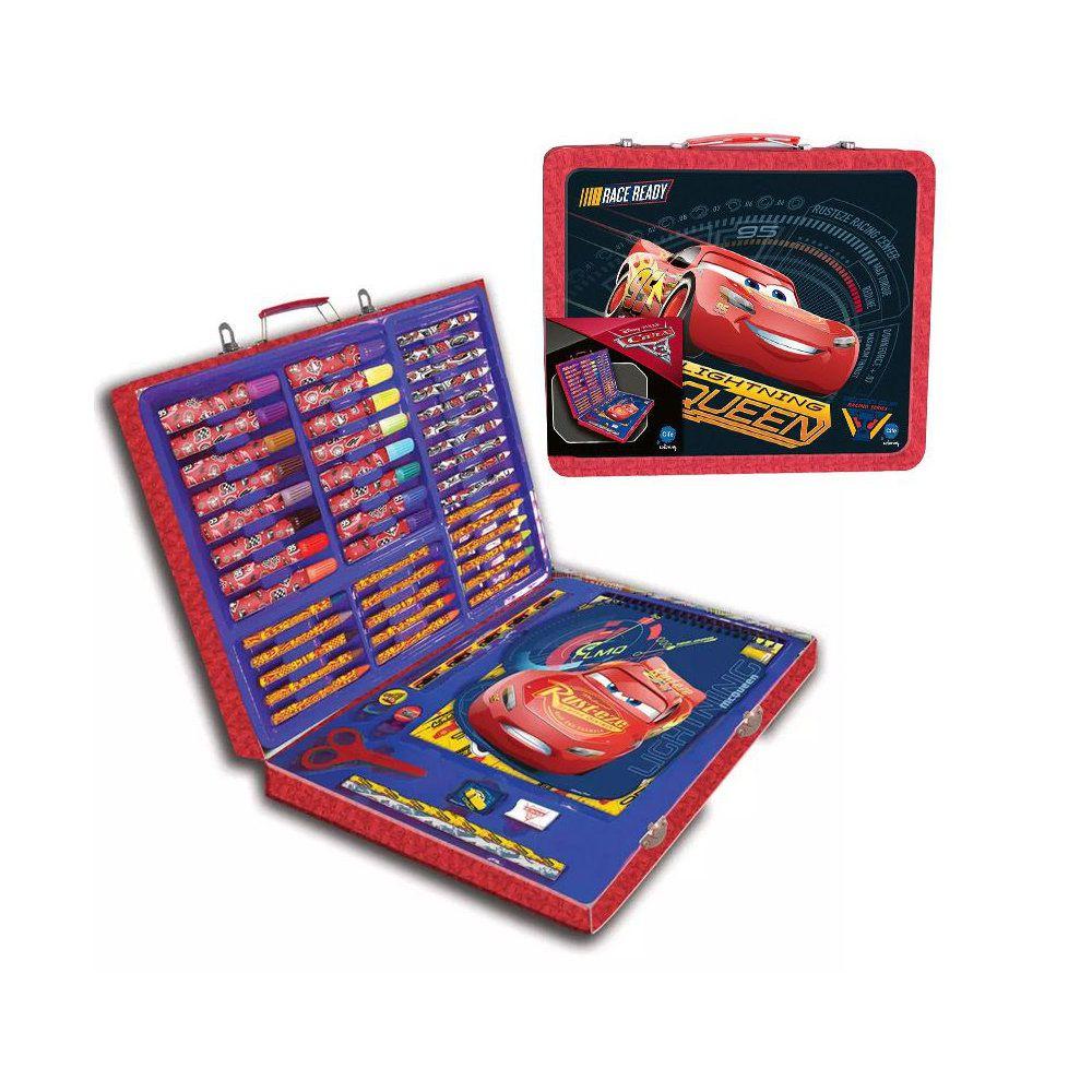 kit escolar de pintura maleta metálica de artes Disney - dtc