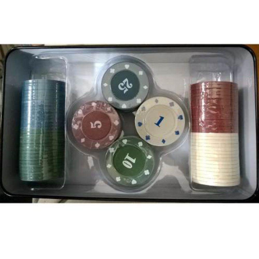 kit fichas de poker profissional 100 fichas de luxo completo