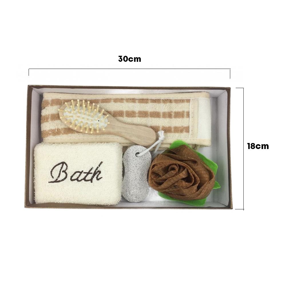 Kit para Banho com 5 peças Esponja Escova Bucha Lixa SPA