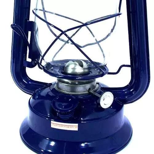 Lampião A Querosene 1005 Azul Médio 30cm Western