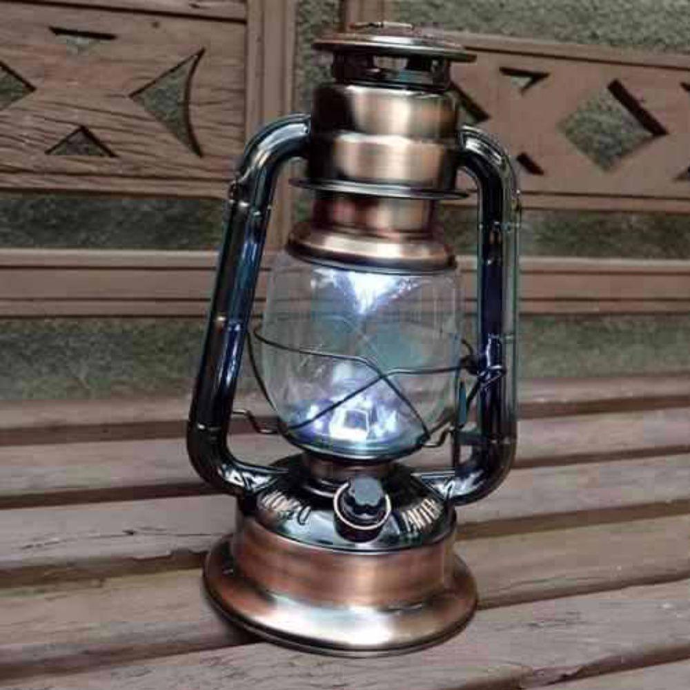 lampião de led estilo retro com 17 leds