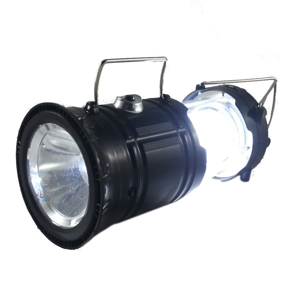 lampião solar led com função lanterna recarregável bivolt