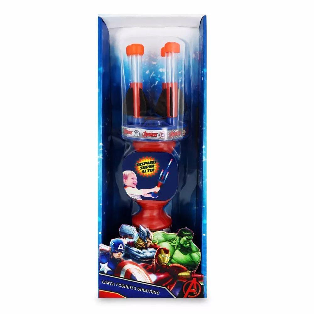 Lança Dardos Os Vingadores Marvel Com 4 Foguetes 32cm