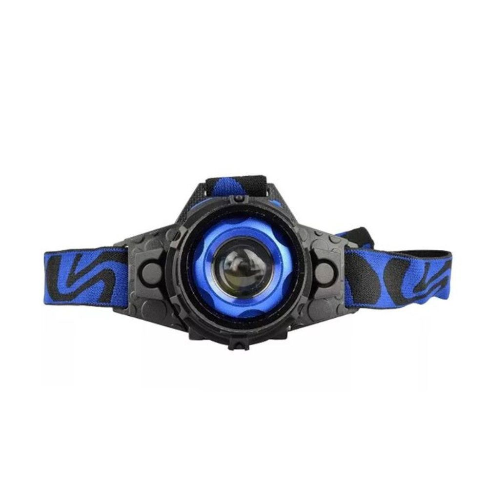 lanterna de cabeça recarregável foco ajustável 3 modos d luz
