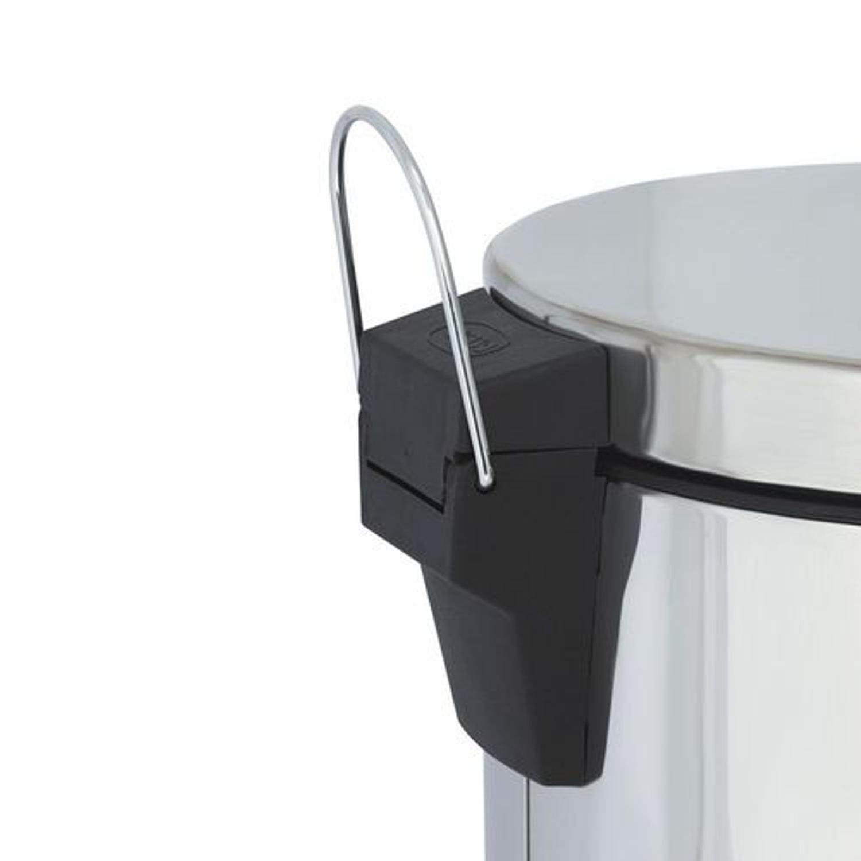Lixeira com pedal aço inox Agata balde interno 5 litros MOR