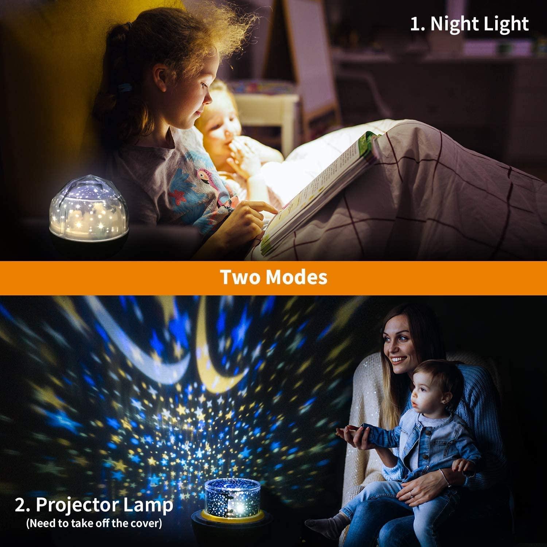 Luminária Ceu estrela Projetor Abajur 5 tipos projeção
