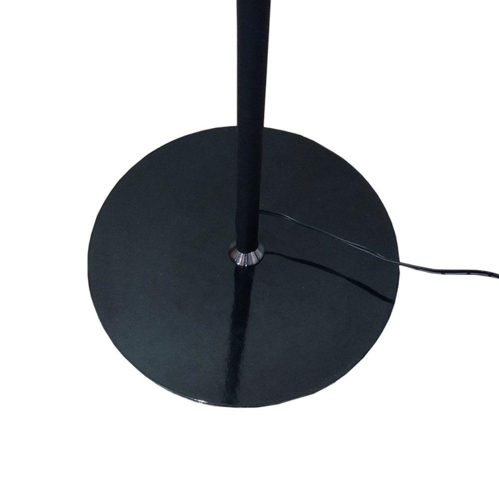 luminária de chão led flexível com controle remoto - preto