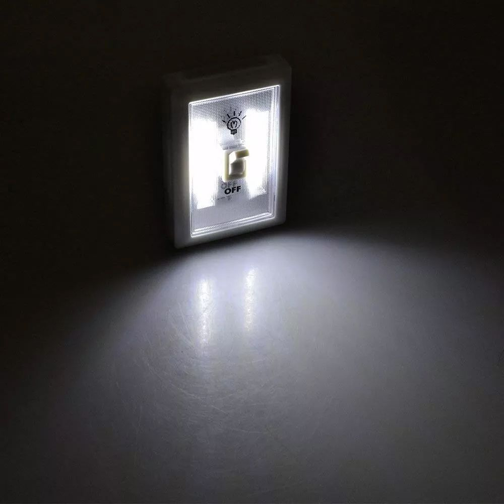 Luminaria De Emergencia Abajur Led Compacta Potente A Pilha