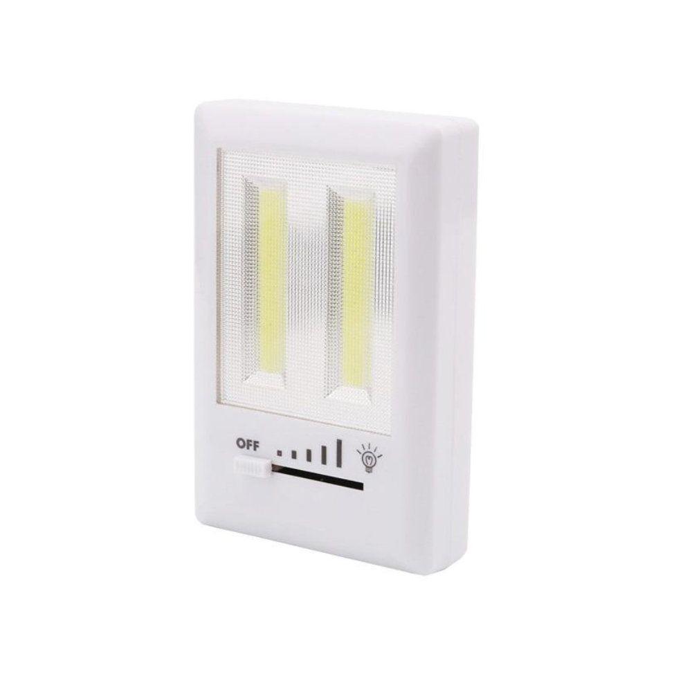 luminária de emergência regulável com 2 led compacta á pilha