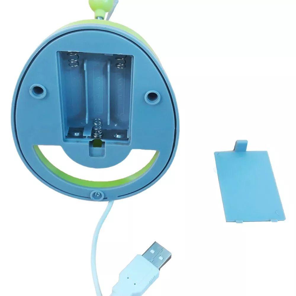 luminária de mesa flexível led com conexão usb e ventilador
