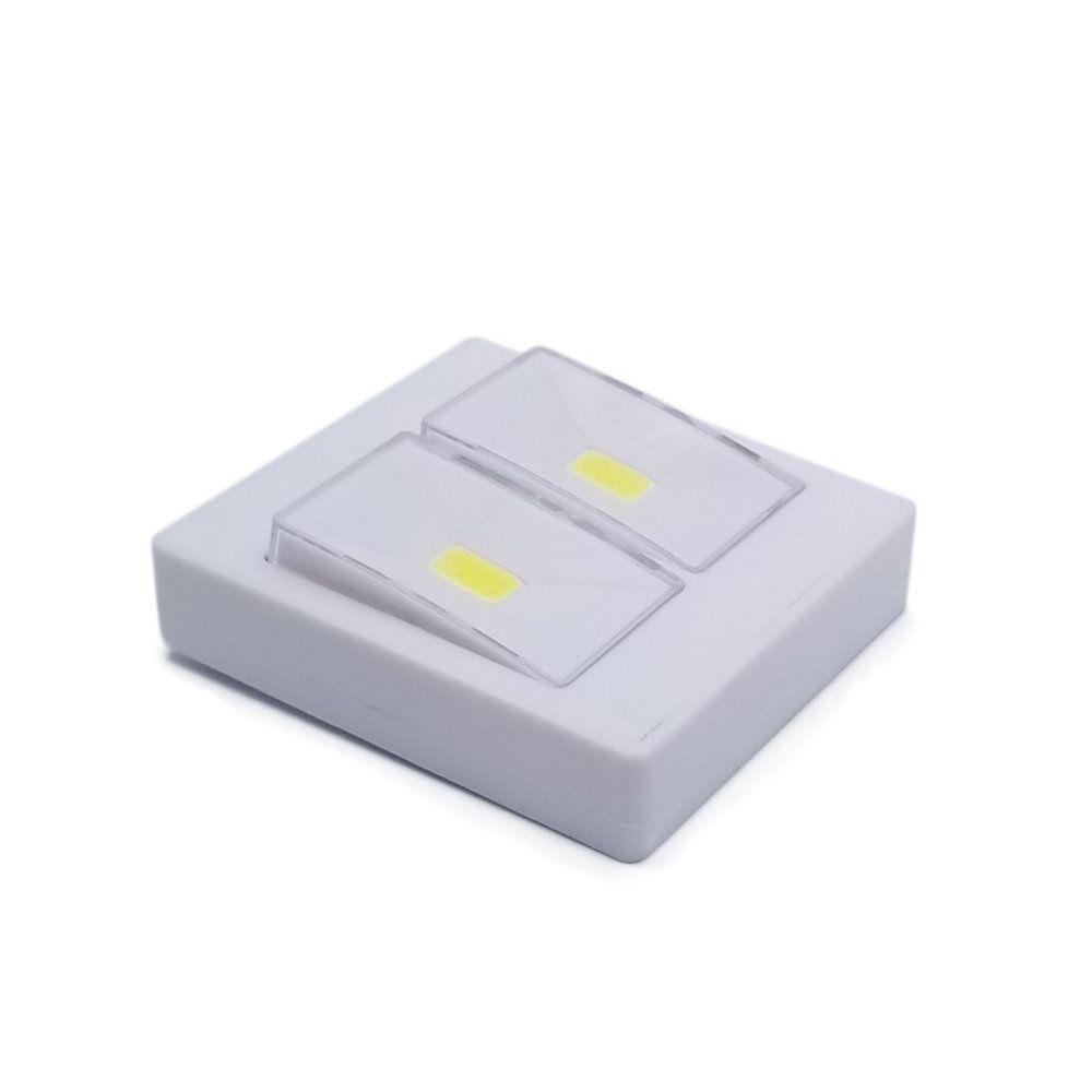 luminária interruptor emergencial com 2 leds á pilha potente