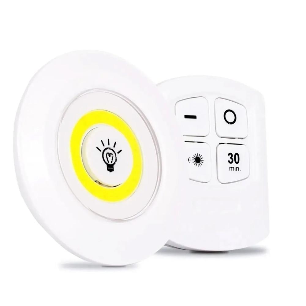 Luminária Lâmpada Led Spot Sem Fio Portátil Controle Remoto