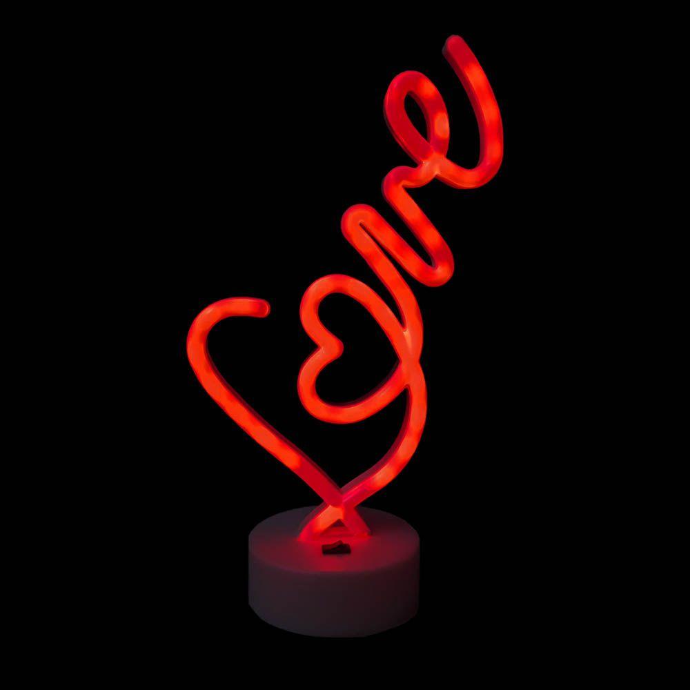 luminária love 3d led abajur para Decoração usb ou pilha