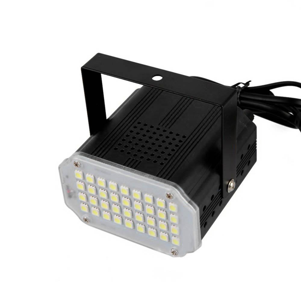mini led strobo 24 leds regulável bivolt iluminação festa