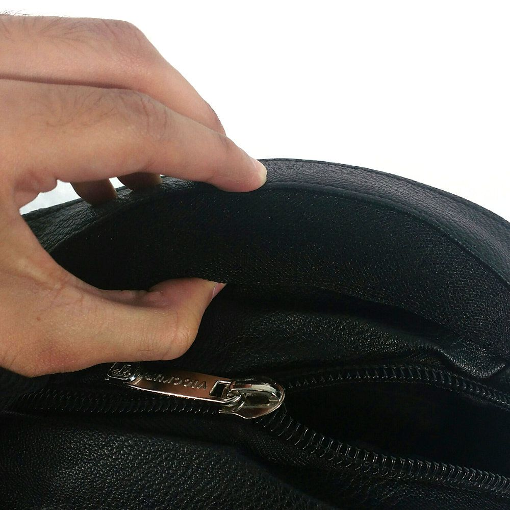mochila masculina em couro sintético universitária reforçada
