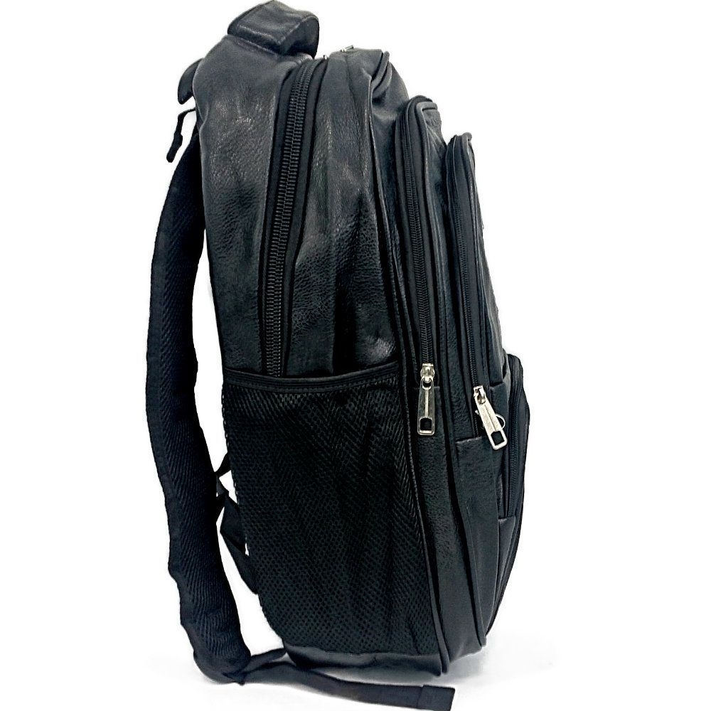 mochila universitária masculina reforçada em couro sintético