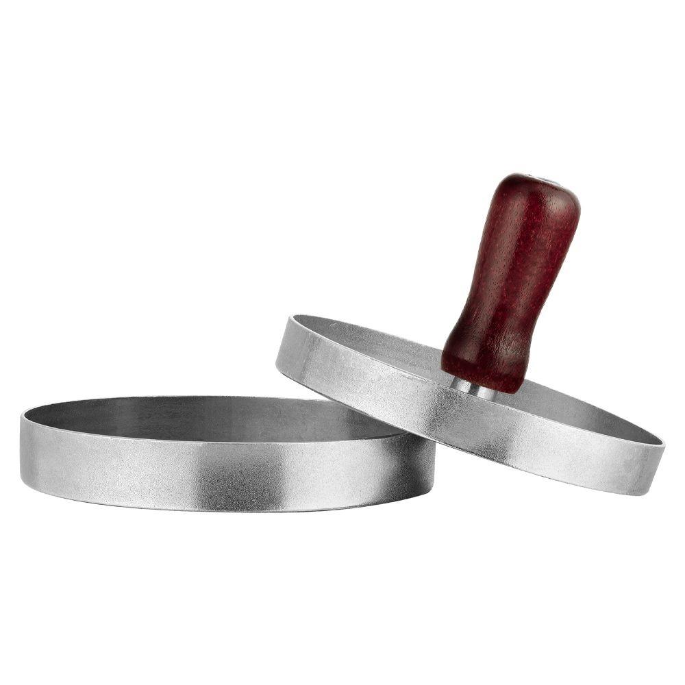 Modelador De Hamburguer Forma De Alumínio Gourmet Carne