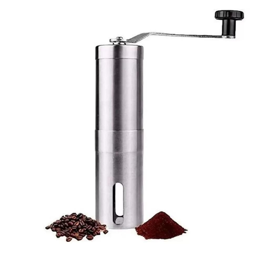 Moedor De Café Manual Triturador De Grãos Em Inox C/ Ajuste