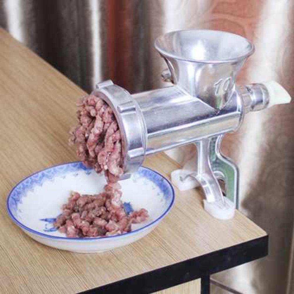 moedor de carne em alumínio suporte para mesa