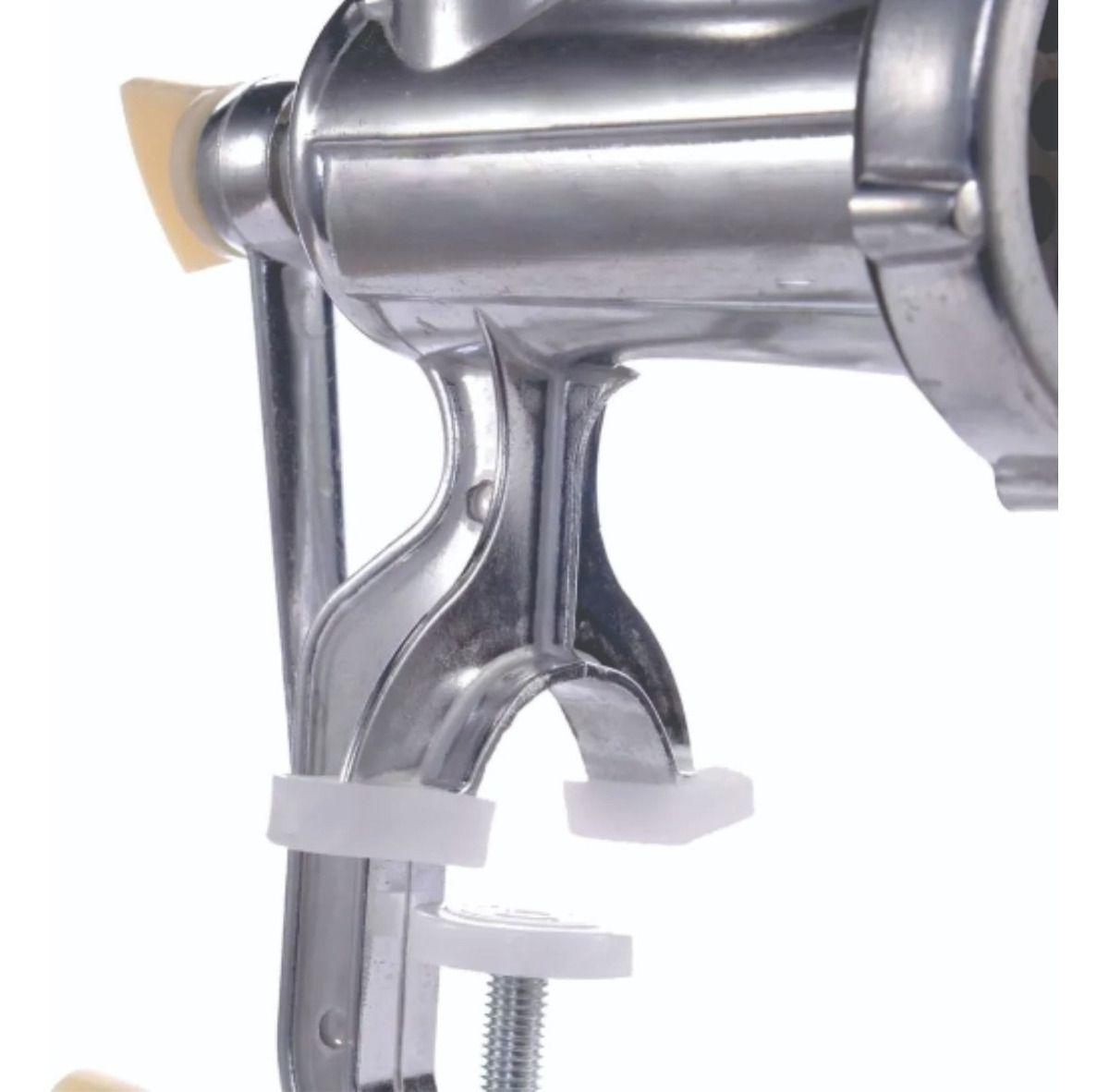 Moedor De Carne Manual Profissional Maquina Alumínio Num 10