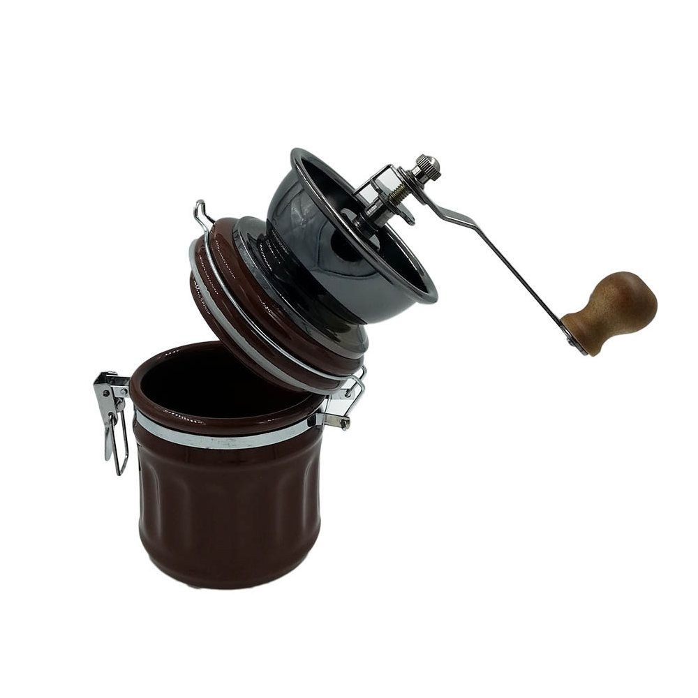 moedor de grãos de cafe manual em cerâmica 20cm