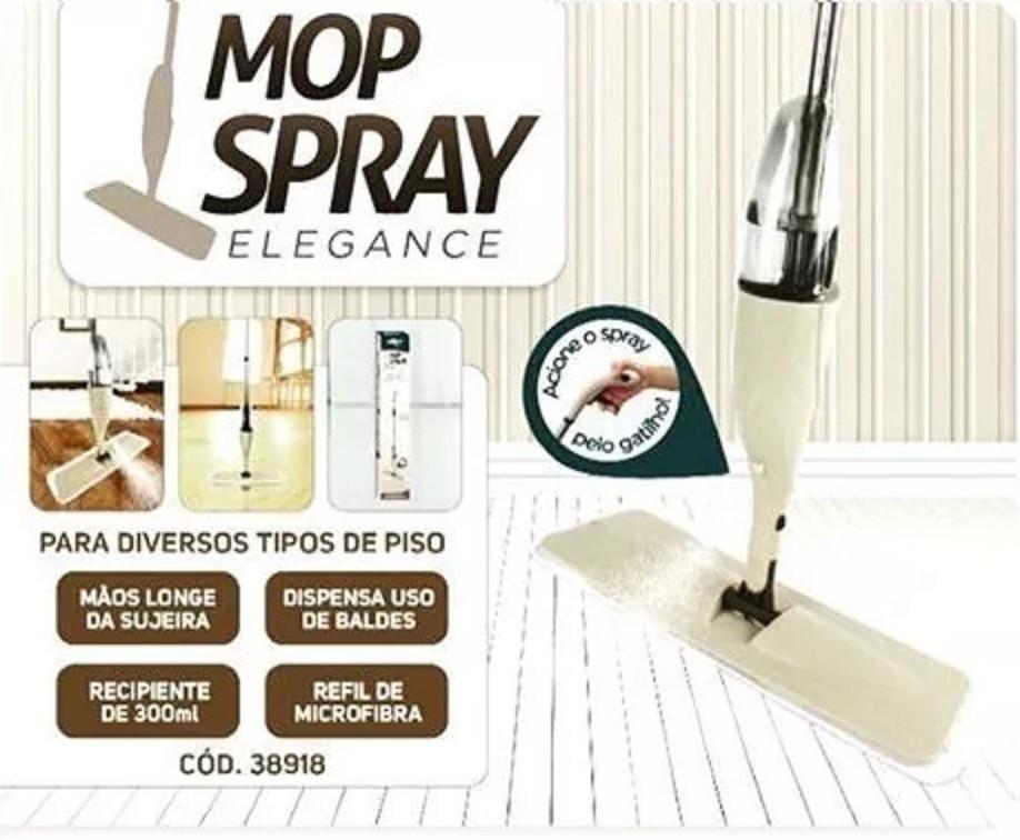 Mop Spray Rodo Esfregão 1.26m Reservatorio 300ml NOBRE